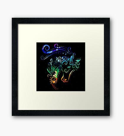 Inked Horse Framed Print