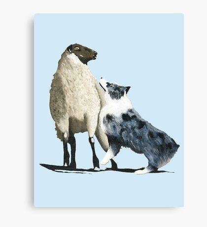 "Australian Shepherd ~ ""One Tough Sheepdog"" painting Canvas Print"