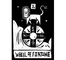 Wheel of Fortune - Tarot Cards - Major Arcana Photographic Print