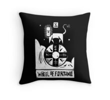 Wheel of Fortune - Tarot Cards - Major Arcana Throw Pillow