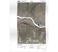 USGS Topo Map Washington State WA Stubblefield Point 20110404 TM Poster