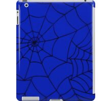 Spider Web, Spider Net, Cobweb - Blue Black  iPad Case/Skin