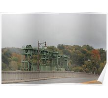 Fall Morning Canal Gate Poster