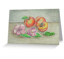 Beaches and blossom flowers  Greeting Card