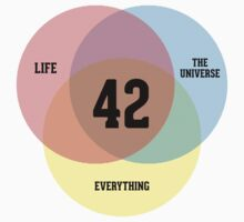 Venn Diagram: Life, the Universe & Everything Kids Clothes
