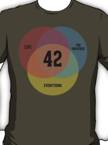Venn Diagram: Life, the Universe & Everything T-Shirt