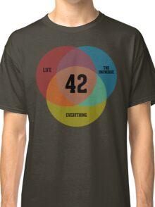 Venn Diagram: Life, the Universe & Everything Classic T-Shirt