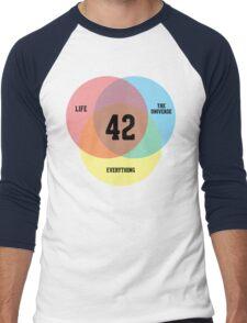 Venn Diagram: Life, the Universe & Everything Men's Baseball ¾ T-Shirt