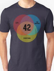Venn Diagram: Life, the Universe & Everything Unisex T-Shirt