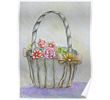 wedding basket of flowers Poster