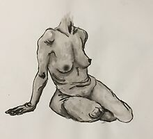 Seated Woman Figure by Chloé Arzuaga