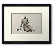 Seated Woman Figure Framed Print