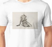 Seated Woman Figure Unisex T-Shirt