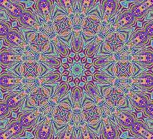 Violent Totem Mandala by Ruth Magnus