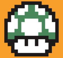 1up Mushroom, Super Mario by Bodera