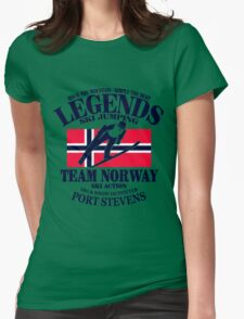 Norway Ski Jumping Womens Fitted T-Shirt