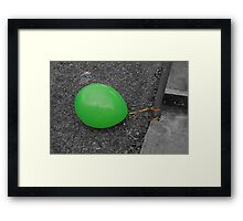 Lonely balloon Framed Print