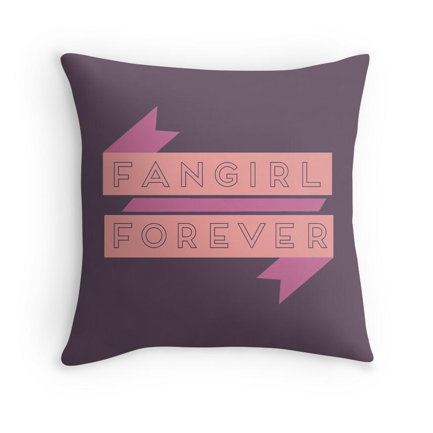 Fangirl Forever   Throw Pillow