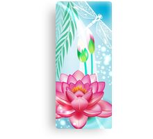 Lotus and Dragonfly Canvas Print