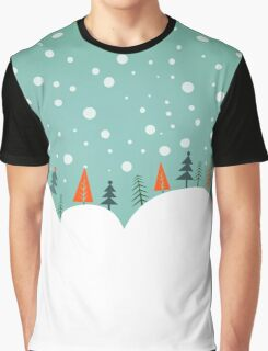 Snowy Holiday Hill Graphic T-Shirt