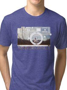 Retro Camera Hendersonville Design Tri-blend T-Shirt