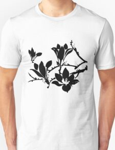 silhouette of flowers T-Shirt