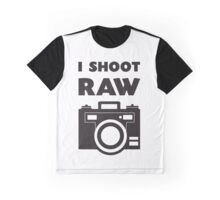 I Shoot RAW - Black Graphic T-Shirt