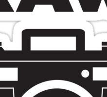 I Shoot RAW - Black Sticker
