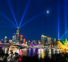 Santos GLNG City of Lights 2012 I by Martin Canning