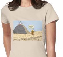 Obama and the Ant at the Pyramids 2012 Womens Fitted T-Shirt