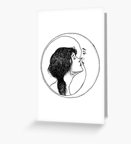 The Lady and the Moon Greeting Card