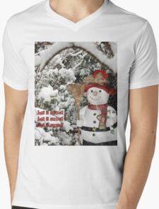 Let It Snow Let It Snow Let It Snow Mens V-Neck T-Shirt