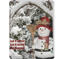Let It Snow Let It Snow Let It Snow iPad Case/Skin
