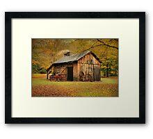 Autumn At Millbrook Village - The Blacksmith Shop Framed Print