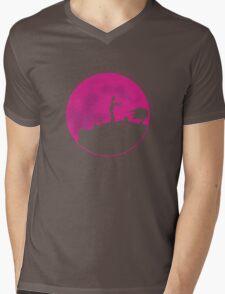 Zombie Moon Mens V-Neck T-Shirt