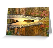 Bridge At Magnolia Plantation Greeting Card