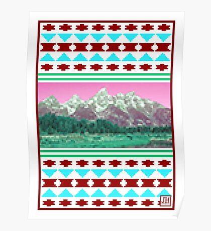 8-Bit Mountains Poster