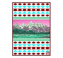 8-Bit Mountains Photographic Print
