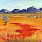 The Olgas central australia by Audrey  Russill