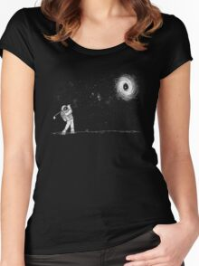 Black Hole In One Women's Fitted Scoop T-Shirt