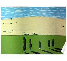 Zen Landscape, Tasmanian Midlands Poster