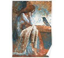 Girl and Bird Poster