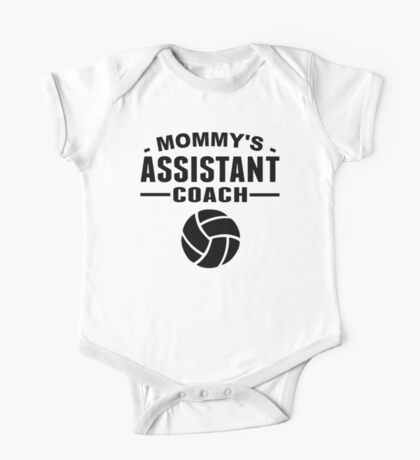 Mommy's Assistant Volleyball Coach One Piece - Short Sleeve