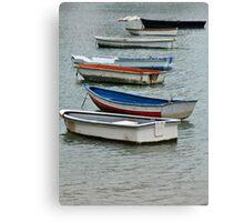 Row,row,row of boats Canvas Print