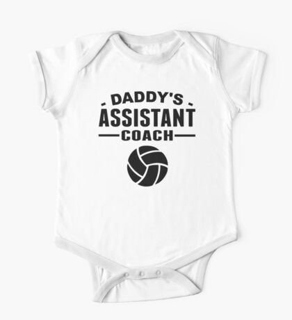 Daddy's Assistant Volleyball Coach One Piece - Short Sleeve