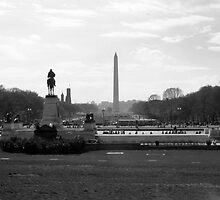 Washington DC in Black and White by amandak8bates