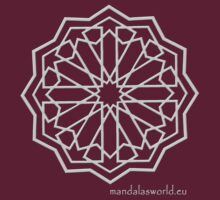 Alhambra Mandala Light Grey by Mandala's World