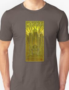 Metropolis Poster in Stained Glass Unisex T-Shirt