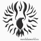 Amerindian Sun Eagle Dark by Mandala's World