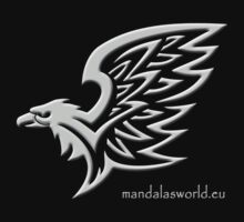 Amerindian Eagle n2 Lightgrey by Mandala's World